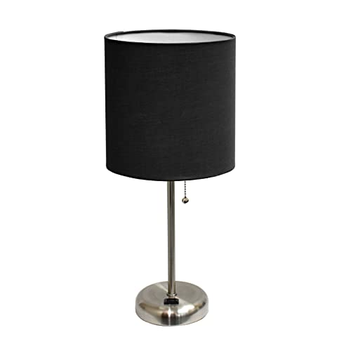 Table Lamp Black Shade Amazon Com