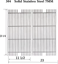 Votenli S5491A (2-Pack) Stainless Steel Cooking Grid Grates Replacement for Select Viking Gas Grill Models