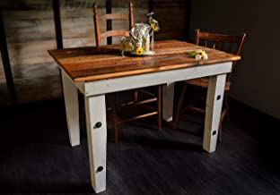 Reclaimed Wood Farmhouse Table - Sugar Mountain Woodworks - Handmade Rustic Wooden Work Table, Computer Desk, Dining Table