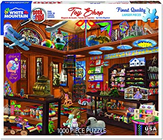 White Mountain Puzzles Toy Shop Seek and Find - 1000 Piece Jigsaw Puzzle
