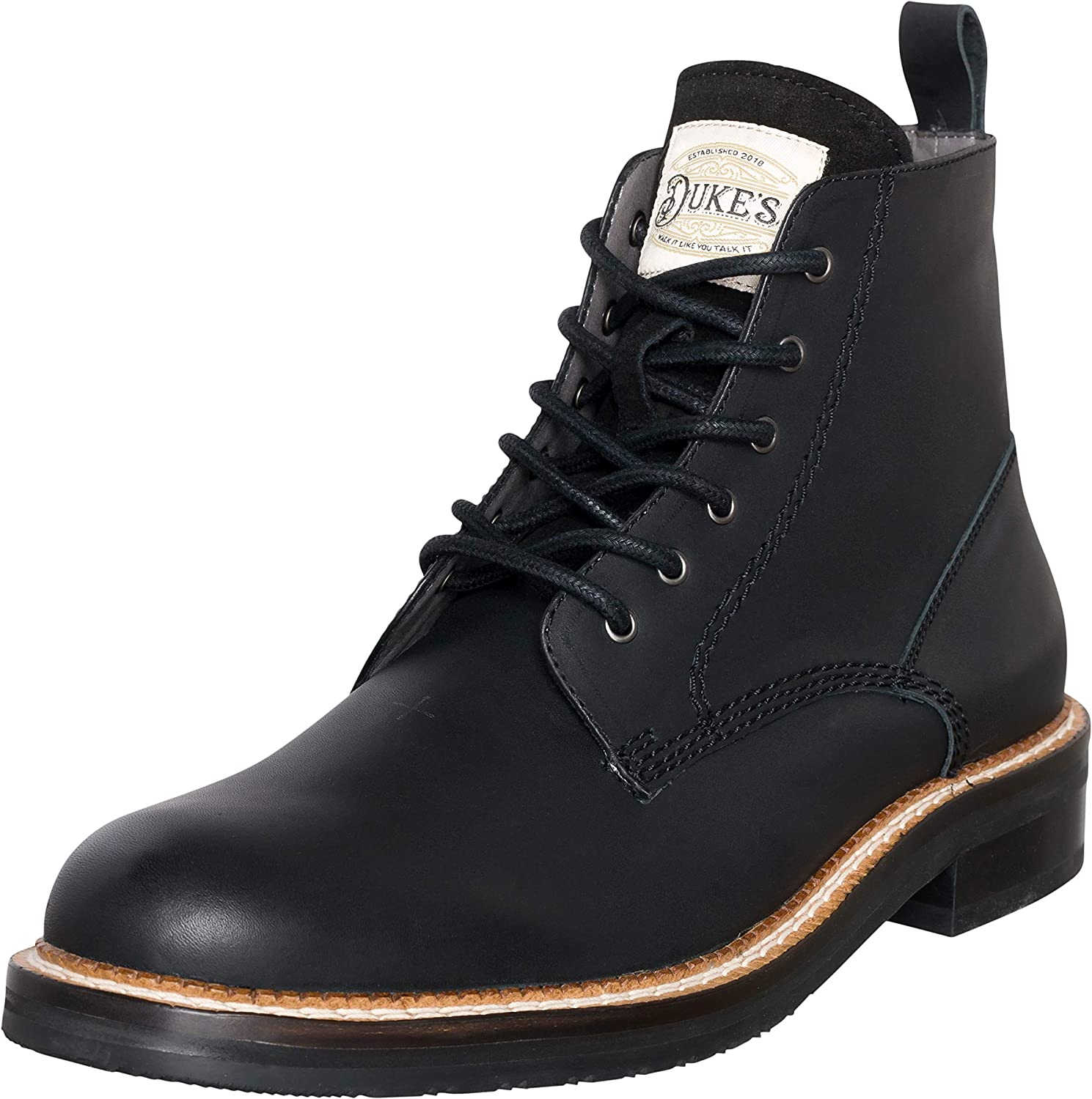 Duke's Mens Boots - Austin Leather Boot with Premium Cushion Insole