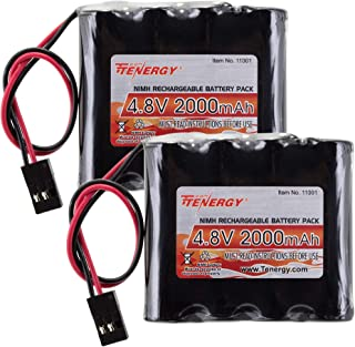 Tectra 6V 2100mAh NiMH RC Battery Packs with Hitec Connector for RC Aircrafts and Walking Robot High Capacity Rechargeable Battery