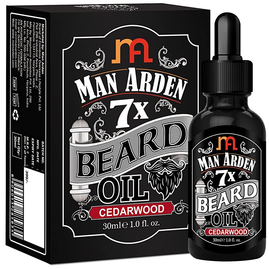 バイバイ閉じるむさぼり食うMan Arden 7X Beard Oil 30ml (Cedarwood) - 7 Premium Oils Blend For Beard Growth & Nourishment