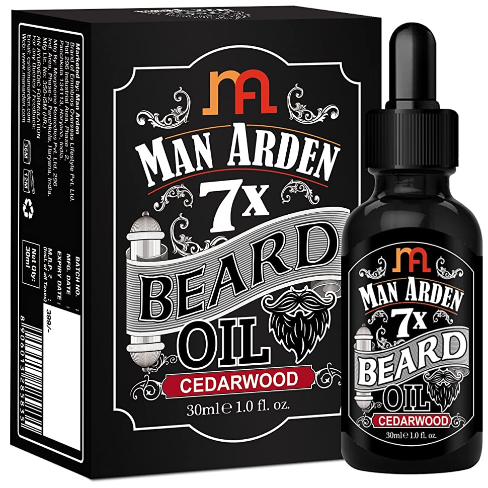 合意ホラー構成員Man Arden 7X Beard Oil 30ml (Cedarwood) - 7 Premium Oils Blend For Beard Growth & Nourishment