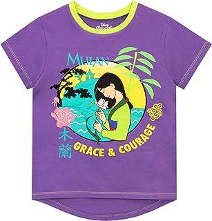 Disney Camiseta de Manga Corta para niñas Mulan