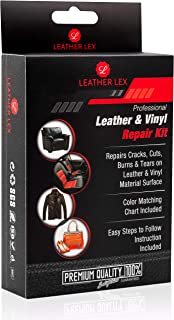 Leather and Vinyl Repair Kit - for Cracks, Cuts, Burns, Tears on Car Seats, Furniture, Leather Clothing, Sofa, Couch- by LeatherLex