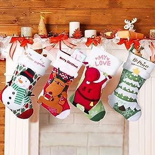 Joyjoz Personalized Christmas Stockings with 3 Coloured Pens, 18