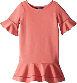 Ponte Inset-Lace Dress (Little Kids)