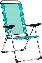 Alco 470ALF-0030 zonnebed van fibreline, gesloten been, aluminium, groenblauw, 97,5 x 65 x 11,5 cm
