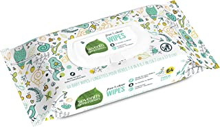 Seventh Generation Baby Wipes, Free & Clear Widget, 0.5kg, 64 Count