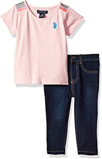 U.S. Polo Assn. Baby Girls' Fashion Top and Pant Set