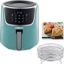 GoWISE USA GW22954 7-Quart Electric Air Fryer with Dehydrator& 3 Stackable Racks, Digital Touchscreen with 8 Functions + R...