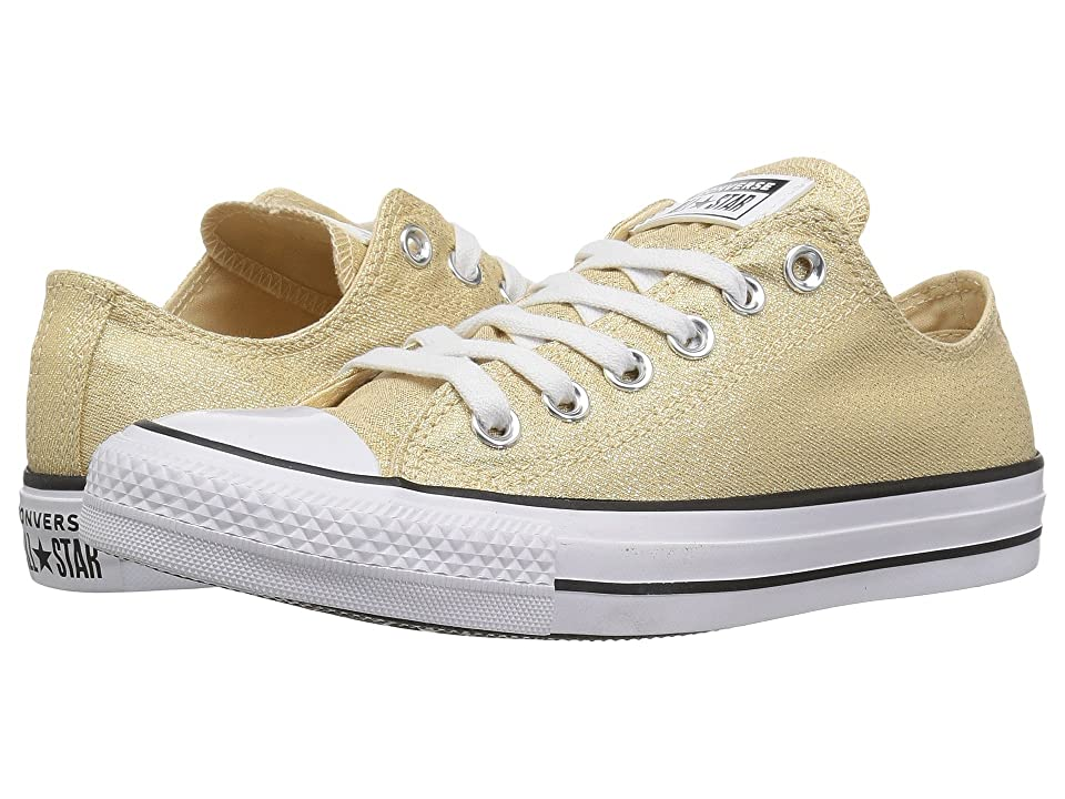 Converse Chuck Taylor All Star Precious Metals Textile Ox (Light Twine/White/Black) Women