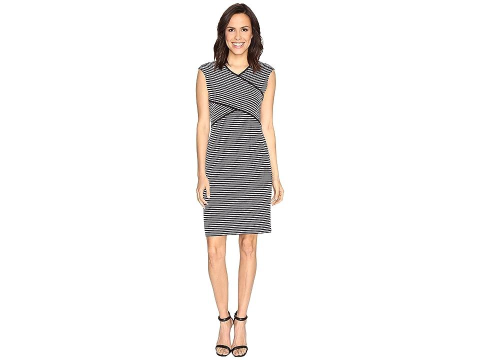 Calvin Klein Striped Panel Dress (Black/White Stripe/Black/White) Women