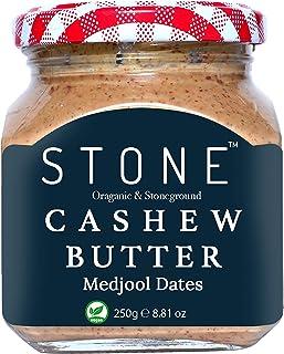 Stone Keto Diet Vegan Butters Organic Cashew Butter(Kaju) with Medjoul Dates (Stone Ground), 250Ge