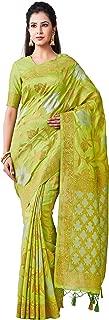 MIMOSA Kanjivaram Style Artifical Silk Saree Color: Green (4496-2381-SD-LRL)