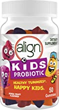 Align Kids Probiotic Supplement Gummies in Natural Fruit Flavors, for Children's Digestive Health, 50ct, #1 Recommended Probiotic Brand by Doctors