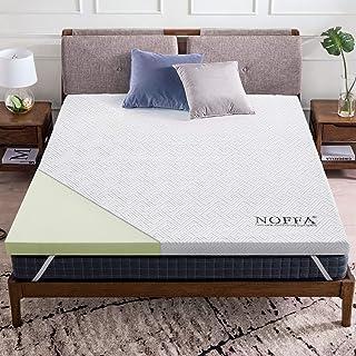 NOFFA - Funda de Colchón de Espuma Viscoelástica para cama Doble King Size, con Correas Elásticas y Funda Extraíble, CertiPUR-EU (180 x 200 x 5 cm)