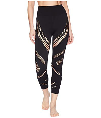 ALO High-Waist Seamless Radiance Capris (Black) Women
