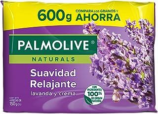 Jabón de Tocador Palmolive Naturals Lavanda y Crema en Barra, 150 g, 4 Piezas