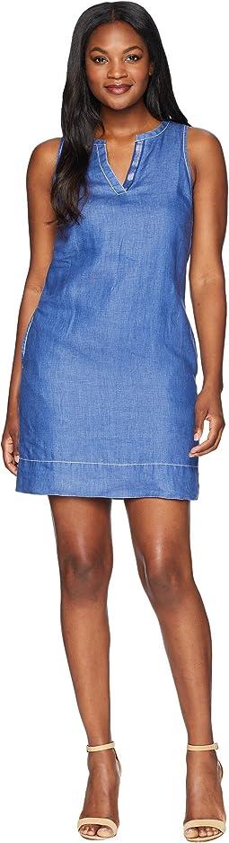 Seaglass Linen Shift Dress