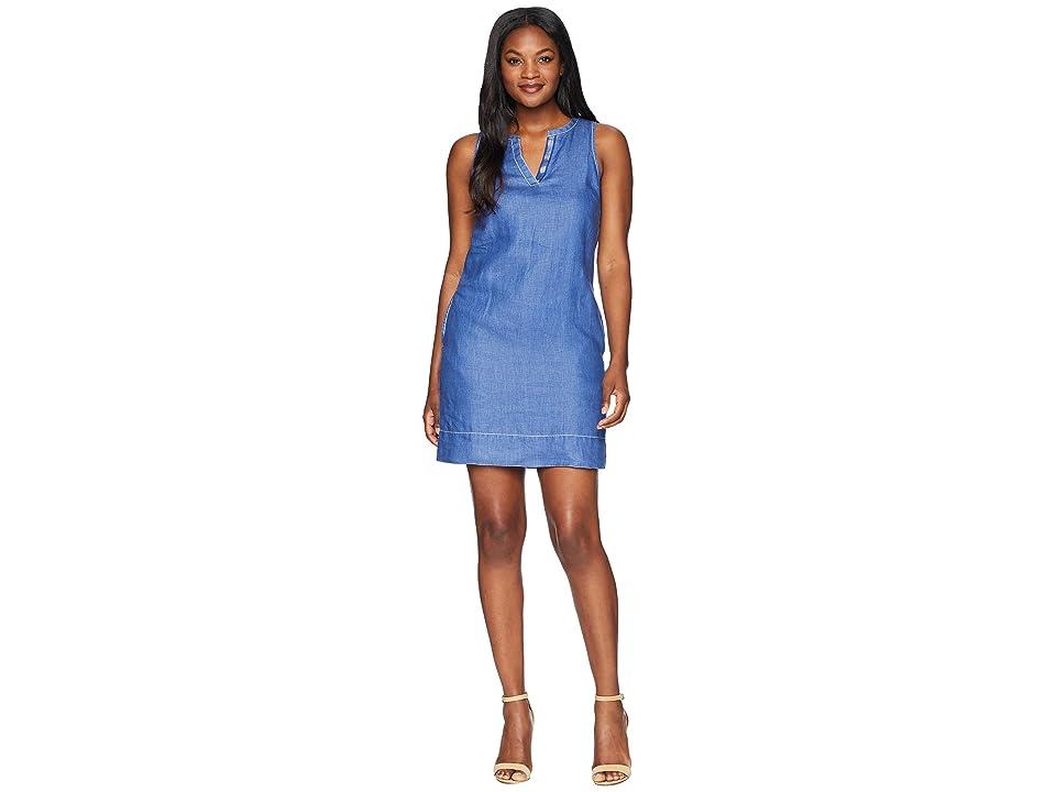 Tommy Bahama Seaglass Linen Shift Dress (Dark Cobalt) Women