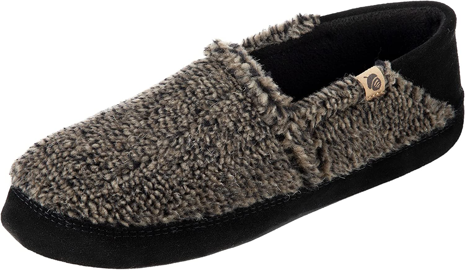 Acorn Men's Moc Slipper with a and Suede Warm Collapsible M Heel Max 59% Japan's largest assortment OFF