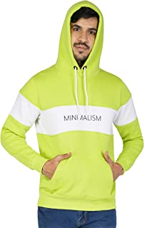 Urban Age Clothing Co. Men's Cotton Blend Heavyweight Fleece Printed Minimalism Hoodie Sweatshirt for Winters Temperature ...