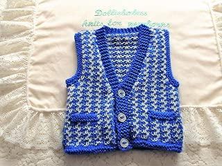 DollieBabies Knitting Pattern 55 - Baby Boy or Reborn Waistcoat