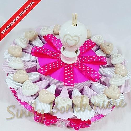 Bomboniere Torte Geburt Taufe 1 burtstag Magnet Herzen Keramik sortiert Hei ftballon Versand inklusive Torta da 35 fette