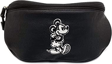 Loungefly x Mickey Mouse Taupe Fanny Pack (Black, One Size)