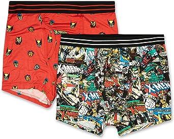 Marvel Mens Comics Boxer Briefs - X-Men Wolverine Mens Underwear - 2 Pack Boxer Briefs