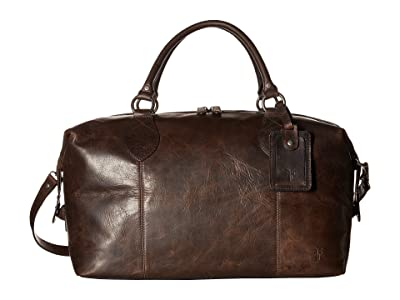 Frye Logan Overnight (Slate Antique Pull Up) Satchel Handbags