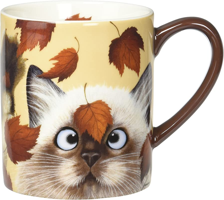 Lang Catching Leaves Mug By Lowell Herrero 14 Oz Multicolored