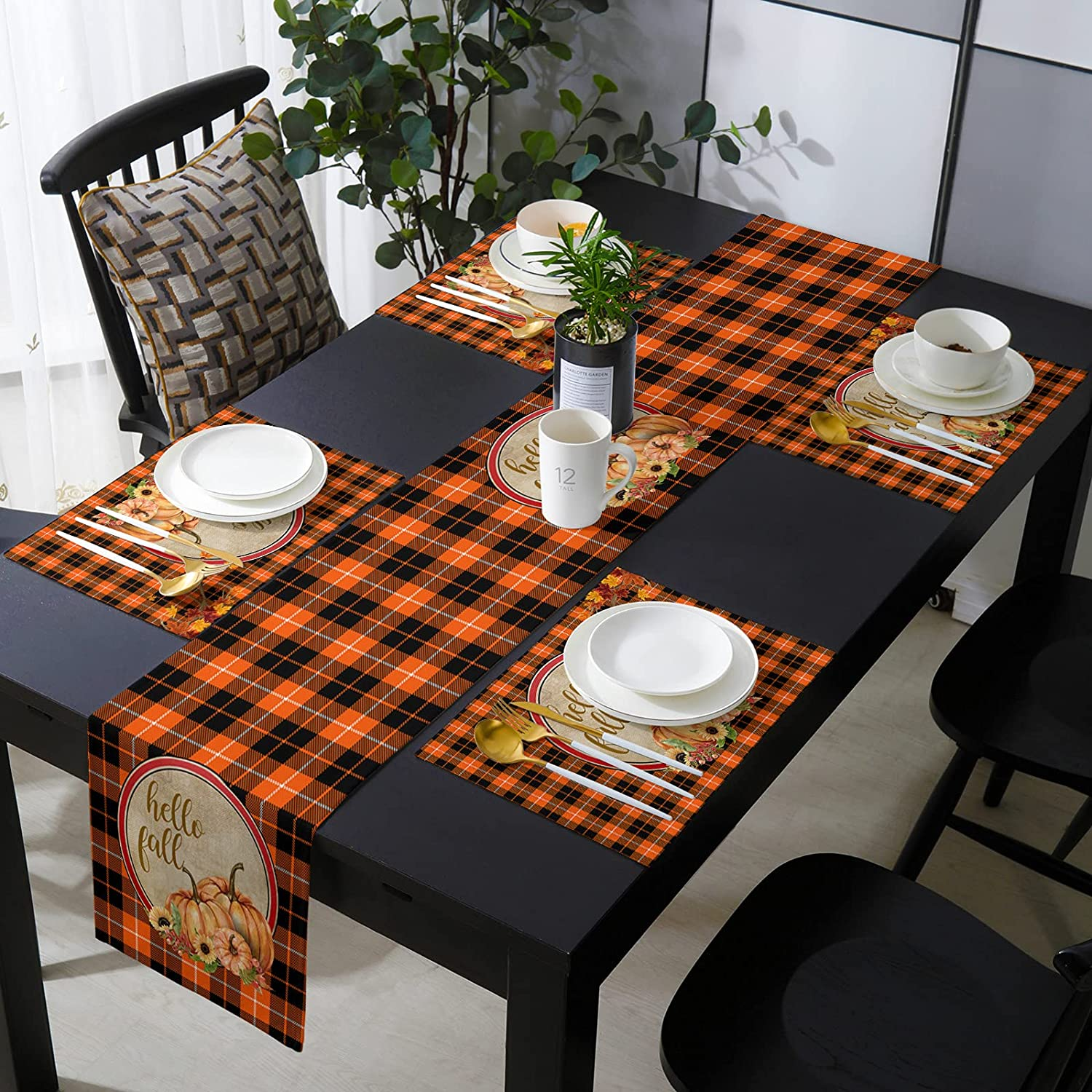 Table Runner Fees free!! and 4 Save money Pieces Cotton 16