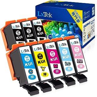 【LxTek】KUI-6CL-L 互換インクカートリッジ エプソン(Epson)用 KUI クマノミ インク 6色セット+黒2本(合計8本) 大容量/説明書付/残量表示/個包装 EP-880AW EP-880AB EP-880AR EP-880...