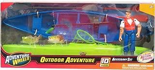 Adventure Wheels Kayak, Canoe, Man Figure, Fishing Playset