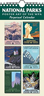 National Parks Poster Art of The WPA Perpetual Calendar Birthday Anniversary Family Date Annual Reminders 5.5