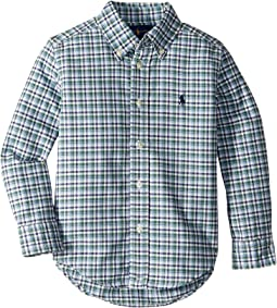 Plaid Cotton Oxford Shirt (Toddler)