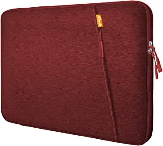 JETech Laptop Sleeve Compatible for 13.3-Inch Notebook Tablet iPad Tab, Waterproof Shock Resistant Bag Case with Accessory Pocket, Red