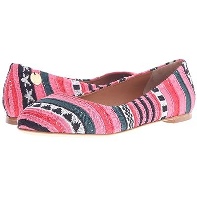 M Missoni Star Stripe Pink Ballet Shoes (Red) Women