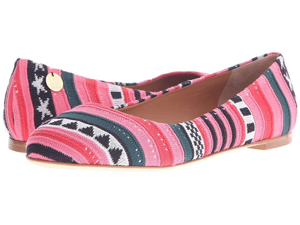 M Missoni Star Stripe Pink Ballet Shoes (Red) Women