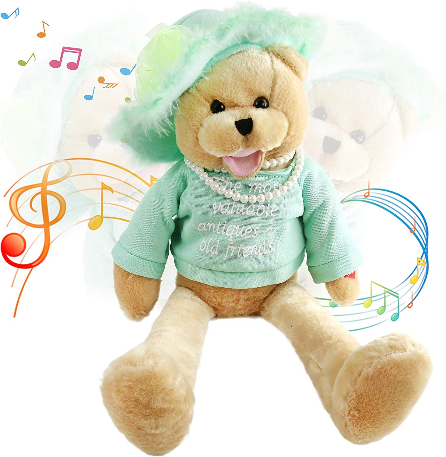 """Houwsbaby Musical Teddy Bear Recommended """"That's San Jose Mall Pearl Sings with"""