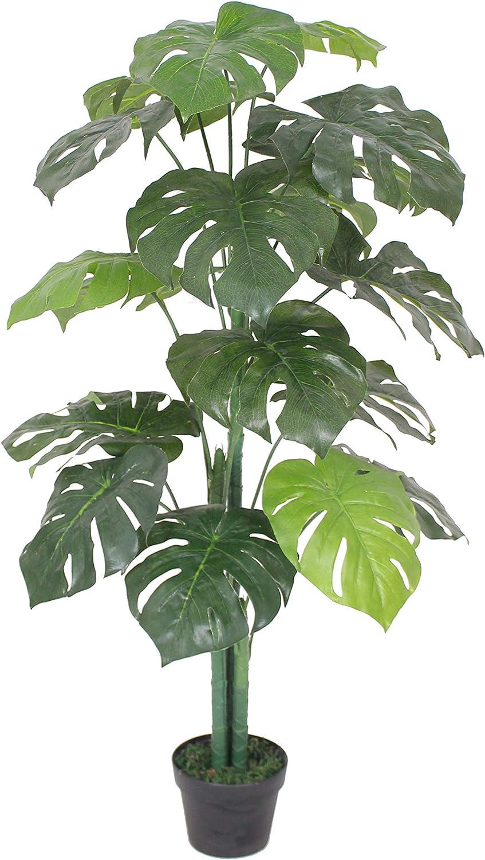 AMERIQUE 4' Detroit Time sale Mall Phoenix Palm Artificial Silk UV Plant Tree Protecti