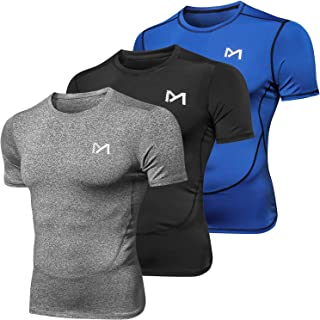 Men's Sport T-Shirt, Cool Dry Athletic Fitness Workout Short Sleeve Baselayer, Compression Top Running Cycling Basketball