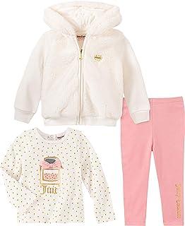 Juicy Couture Baby Girls 3 Pieces Jacket Pants Set