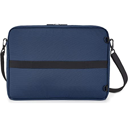 Moleskine Metro Device Bag Orizzontale Borsa Porta Pc per Laptop, Notebook, iPad e Tablet fino a 15'', Borsa a Tracolla Impermeabile, 40 x 29 x 6 cm, Blu Zaffiro