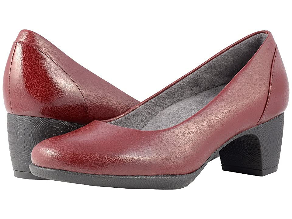 SoftWalk Imperial II (Dark Red Professional Leather) High Heels