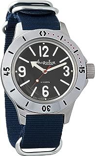 Vostok Amphibian Automatic Mens Wristwatch Self-Winding Military Diver Amphibia Case Wrist Watch #120913