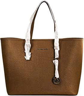 Women's Medium Saffiano Travel Leather Shoulder Tote